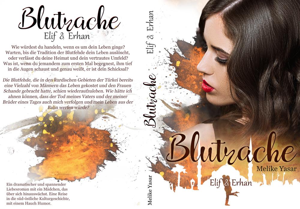 Coverdesign Blutrache Liebesroman mit Thrillerelementen