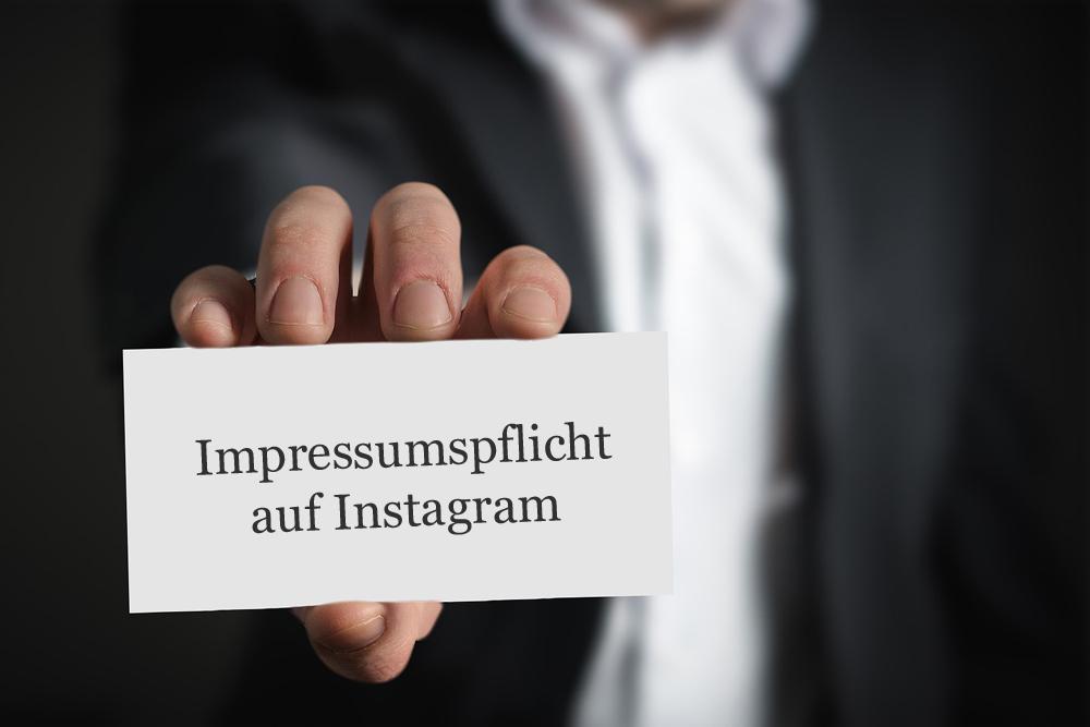 Impressumspflicht für Autoren auf Instagram