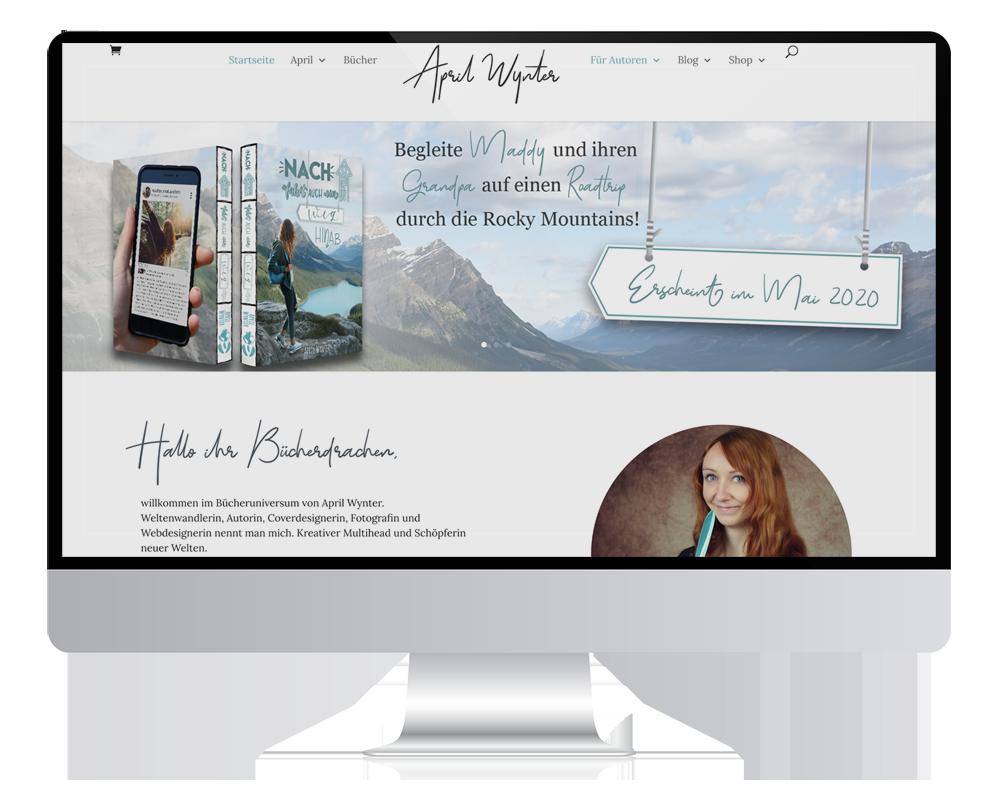 Autorenwebseite - Webdesign