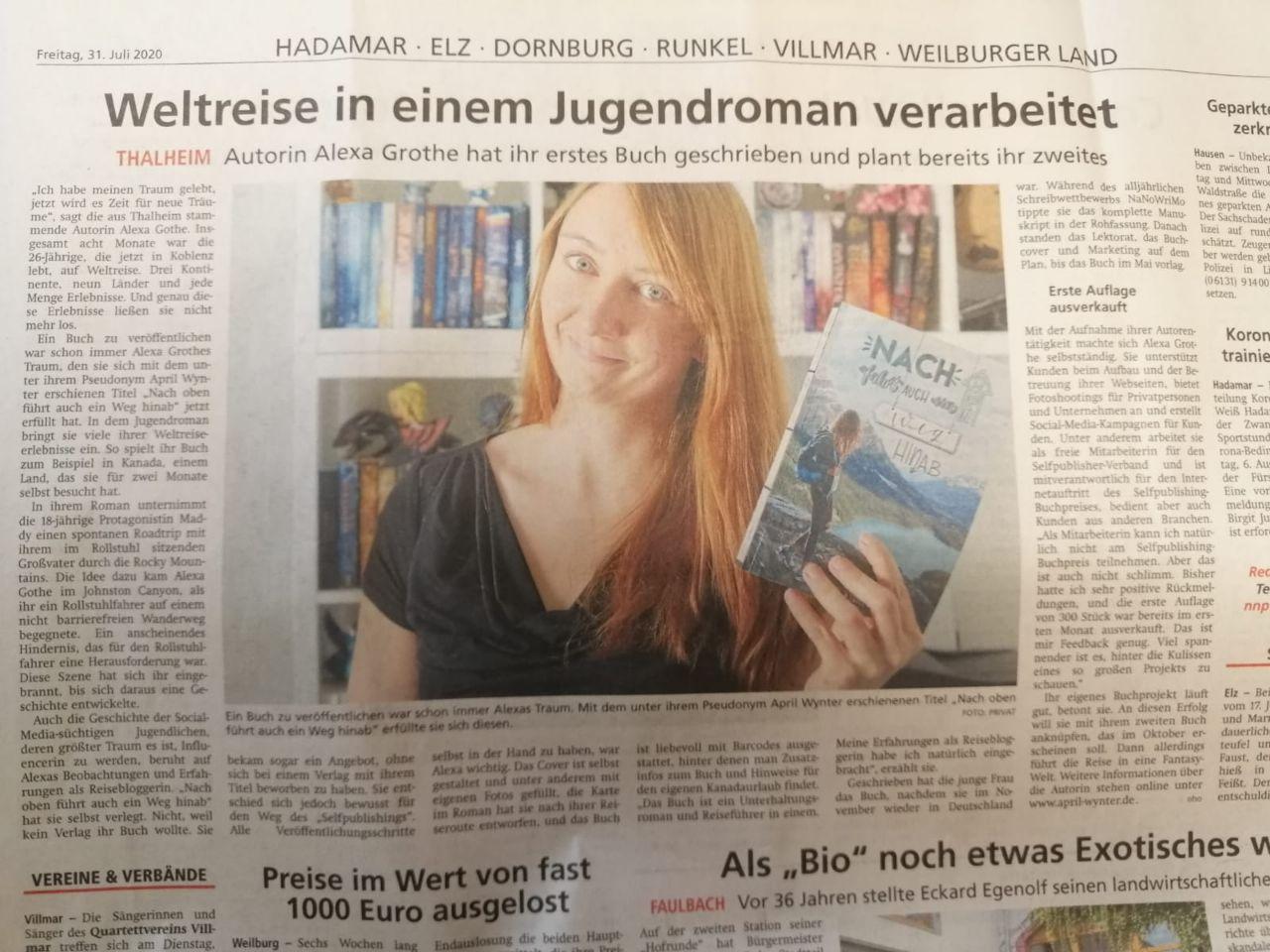 April Wynter veröffentlicht erstes Jugendbuch