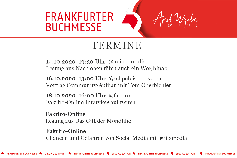 FBM 2020 Termine Frankfurter Buchmesse 2020