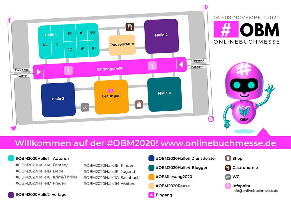 Hallenplan Onlinebuchmesse