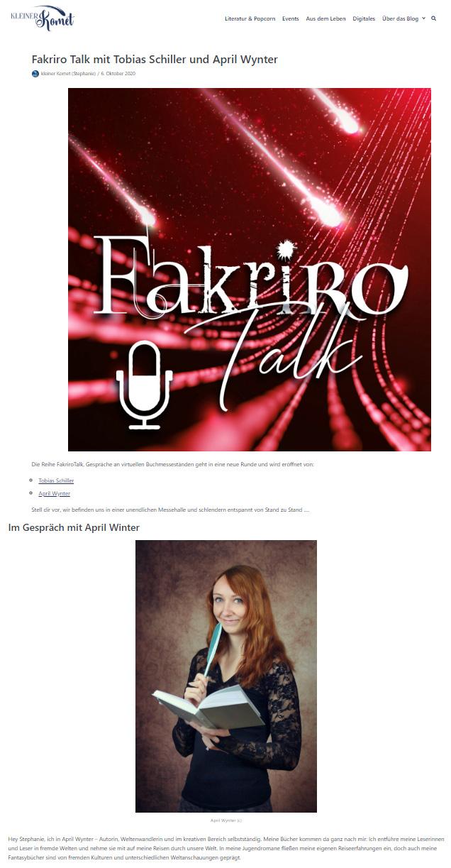 Fakriro-Talk mit Stephanie von Kleiner Komet
