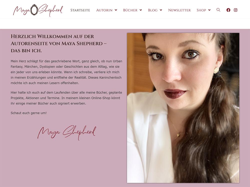 Fira schreibt Autorenwebseite