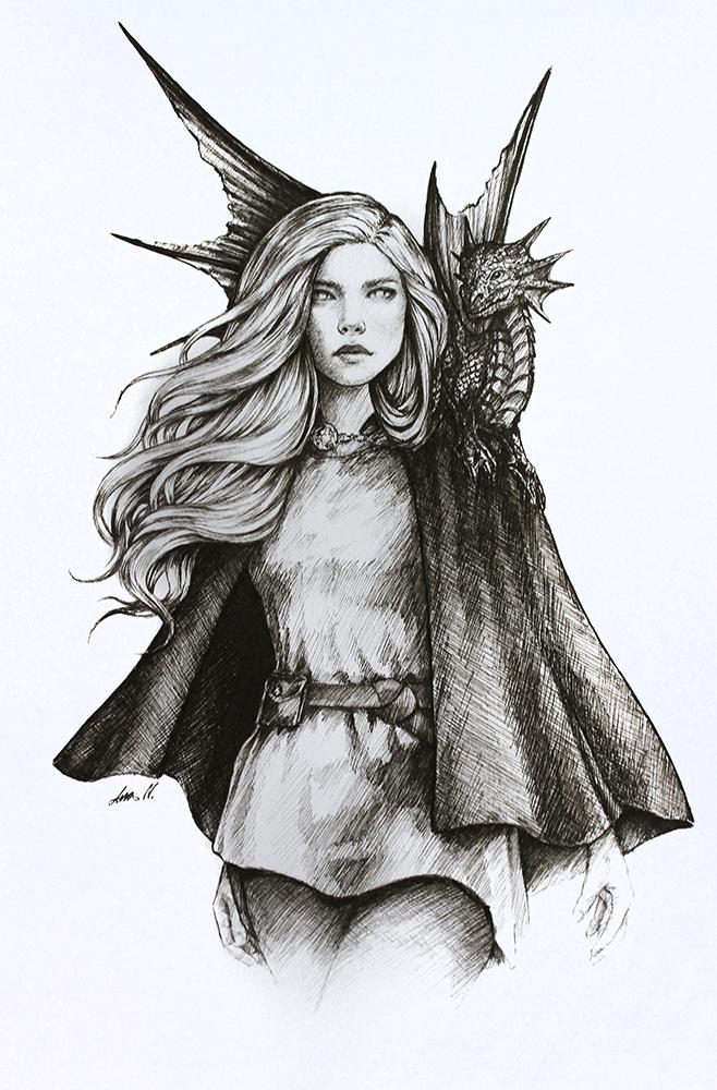 Illustration Ally und Amina von Ana Neves Mondlilie