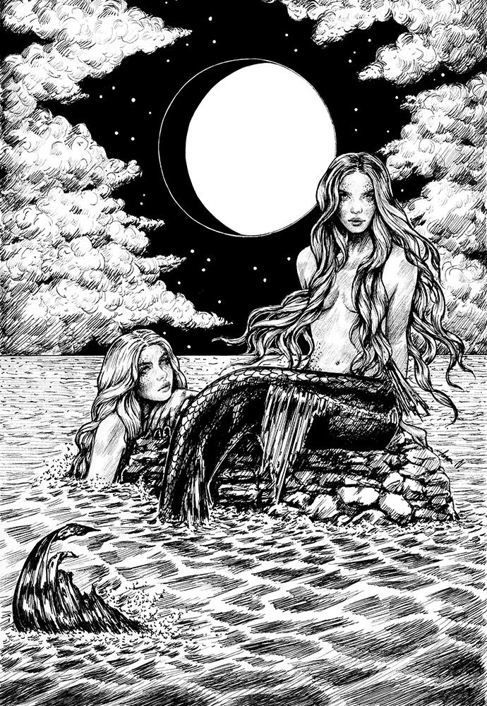 Illustration Sirenen von Ana Neves Mondlilie