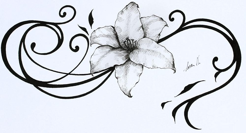 Mondlilie Illustration von Ana Neves