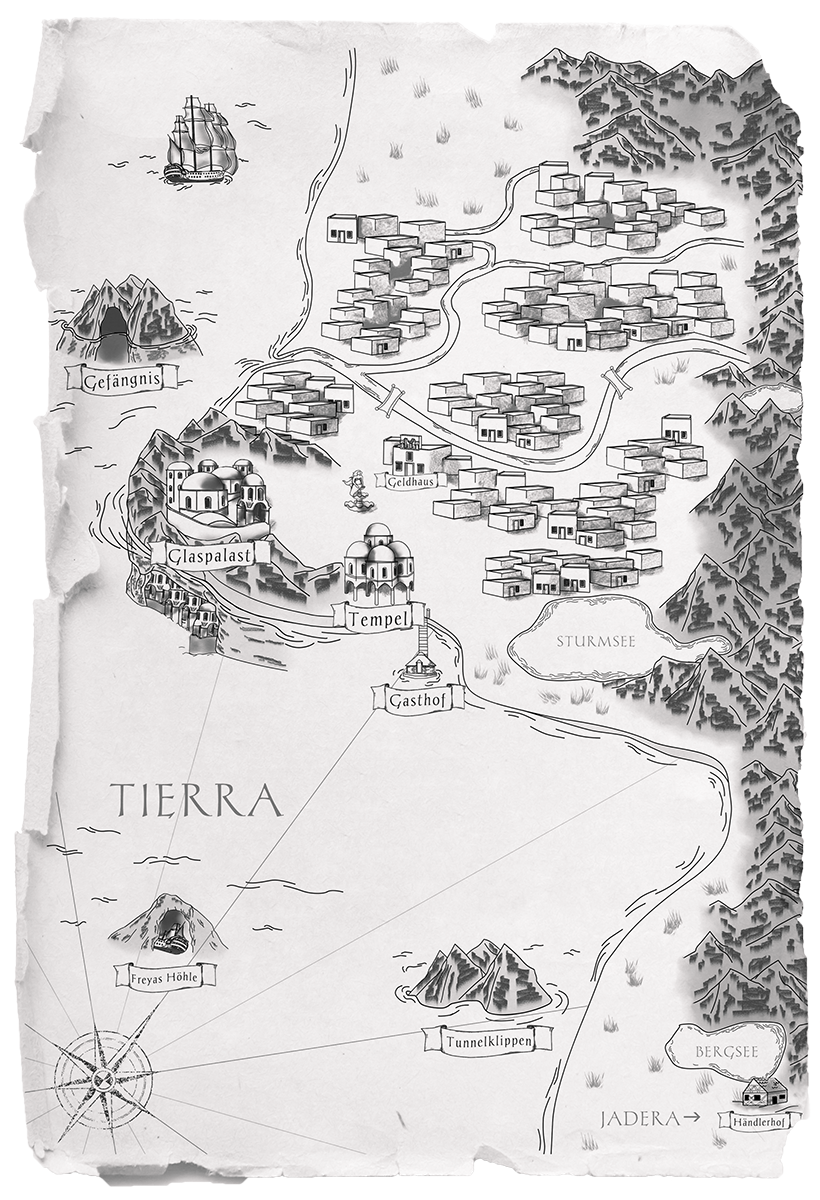 Karte Tierra Mondlilien und Drachenfeuer Reihe